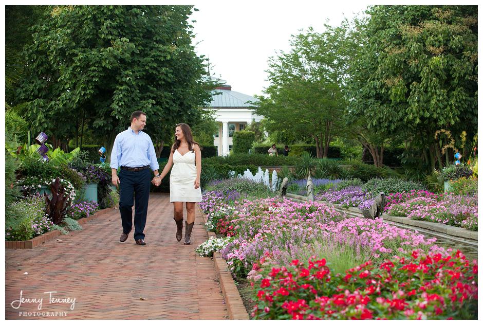 Daniel Stowe Botanical Garden Uptown Charlotte Engagement Rachel Brian Jenny Tenney