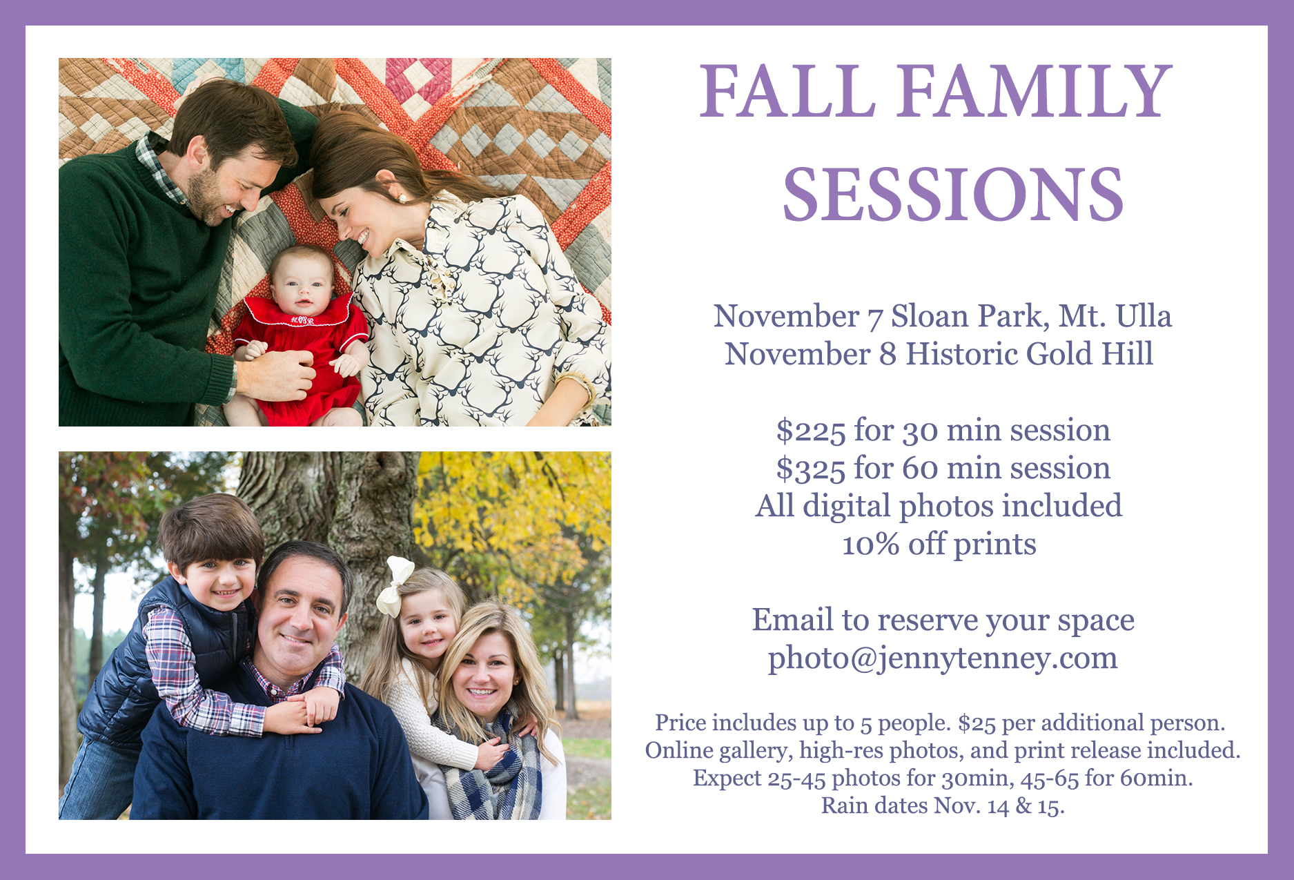 fall family sessions