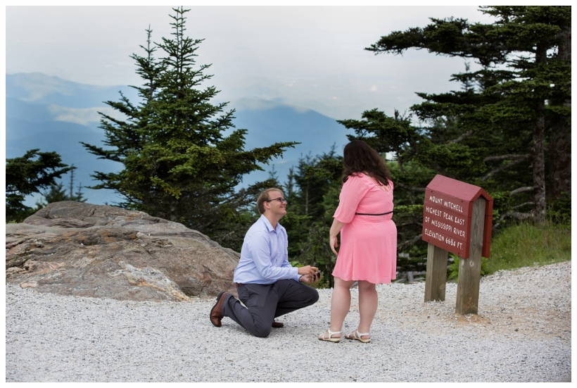 Mt. Mitchell marriage proposal